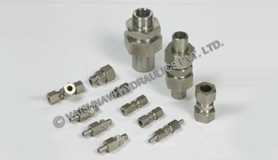 Tube fittings manufacturers, Single ferrule bite fittings, DIN 2353 fittings,